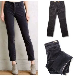 Anthro Pilcro High Rise Stet Corduroy Ankle Pants